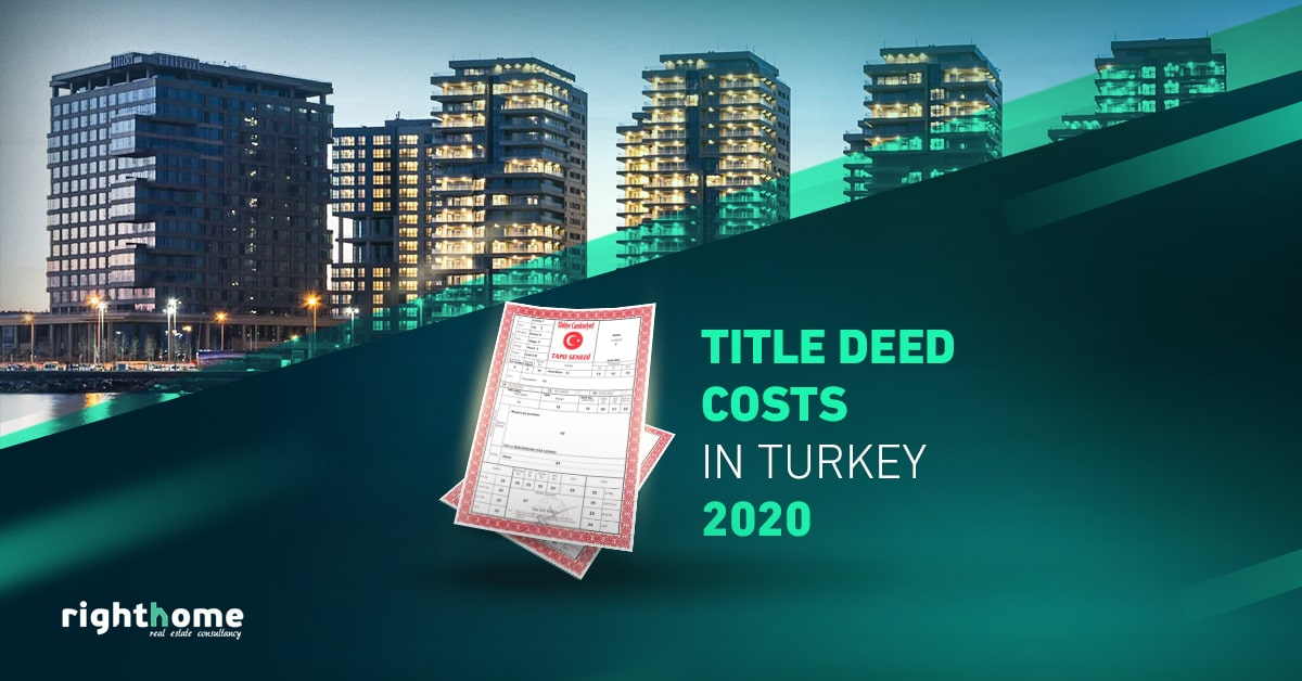 Title deed costs in Turkey 2020
