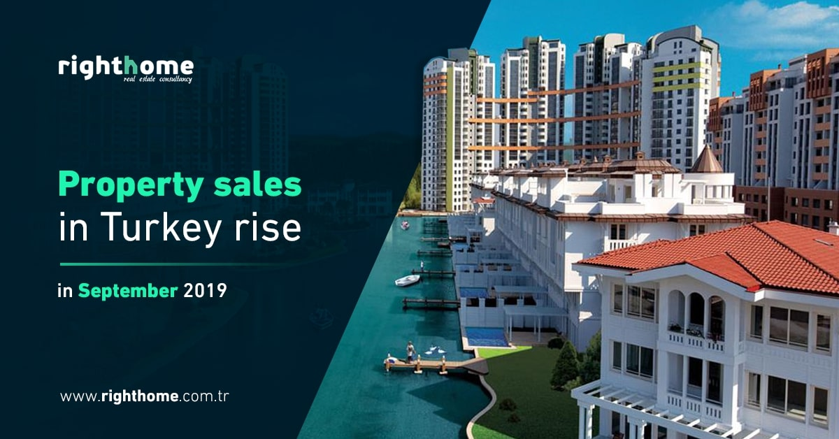 Property sales in Turkey rise in September 2019