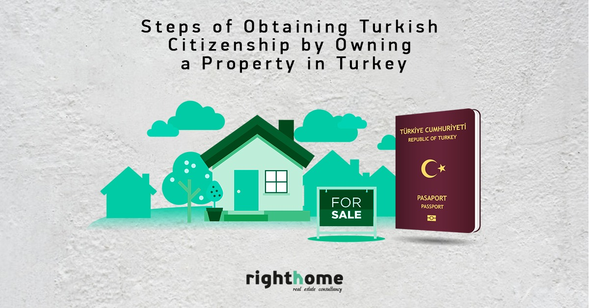 Steps of obtainig Turkish citizenship by owning a property in Turkey