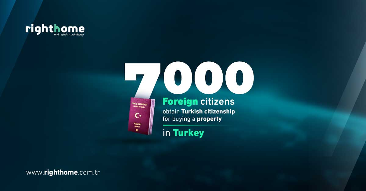 7 thousand foreign citizens obtain Turkish citizenship for buying a property in Turkey