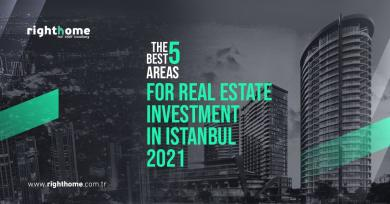 The best 5 areas for real estate investment in Istanbul 2021