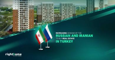 Increasing demand by the Russian and Iranian to buy real estate in Turkey