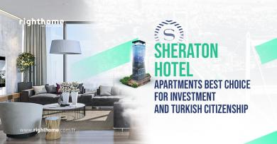 Sheraton hotel apartments best choice for investment and Turkish citizenship