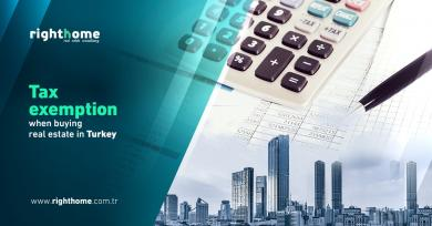 Tax exemption when buying real estate in Turkey