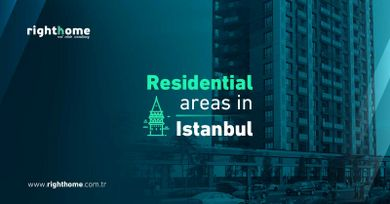 Residential areas in Istanbul