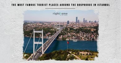 The most famous tourist places around the Bosphorus in Istanbul