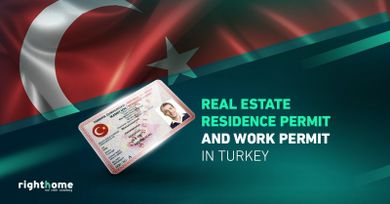 Real estate residence permit and work permit in Turkey