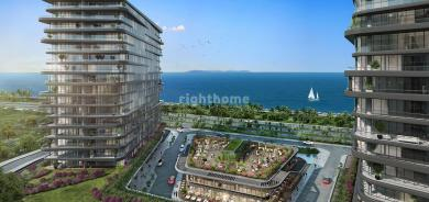 Seafront 2+1 apartment in a very special location in Istanbul