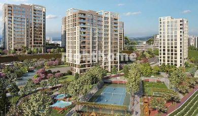 RH 48-Apartments in Basaksehir in a residential complex with installments up to 60 months